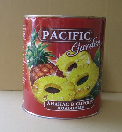 CANNED PIECES PINEAPPLES IN LIGHT SURUP A10
