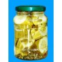 canned slice cucumber in jar