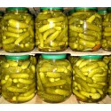 marinated baby cucumber 3-6 cm jar 1500 ml